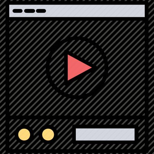 internet broadcasting, internet multimedia, online streaming, online video, tutorial icon