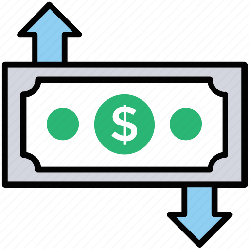 asset growth, business scope, income growth, income level, money growth icon