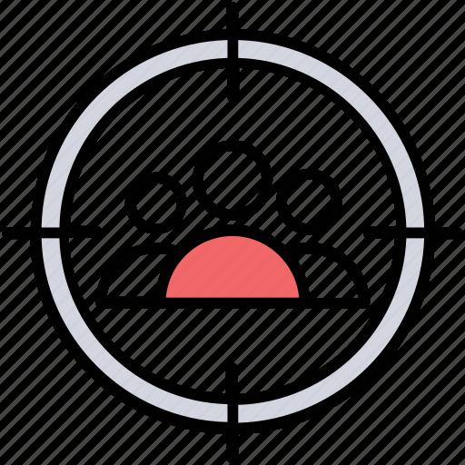 audience target, customer target, potential customer, target group, target market icon