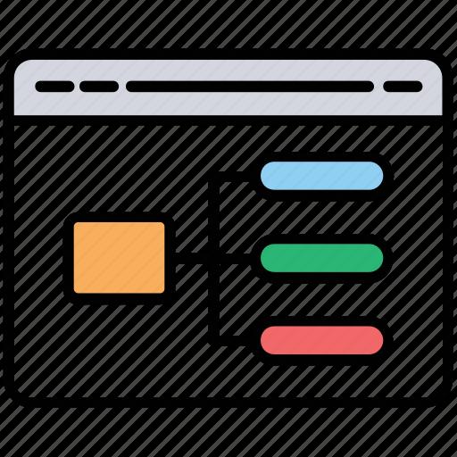 algorithm, css designing, programming, scripting, web coding icon
