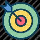 seo, goal, target, dartboard