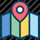 seo, map, location, navigation, pin