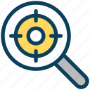 seo, search, target, magnifier