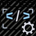 code modification, coding optimization, improve code quality, program optimization, programming efficiency icon