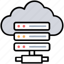 cloud database, cloud hosting server, server hosting, shared hosting, web hosting icon