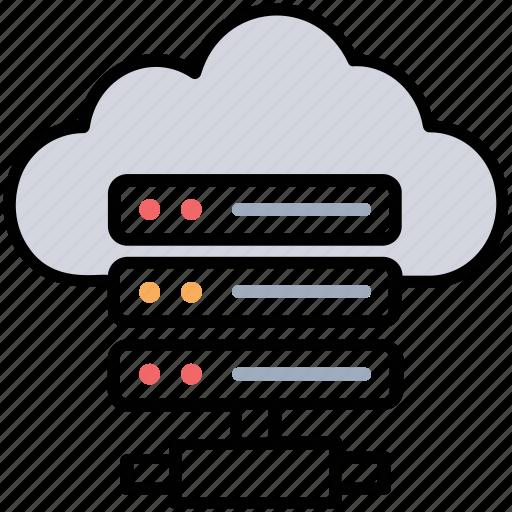 cloud database, cloud hosting server, server hosting, shared hosting, web hosting icon