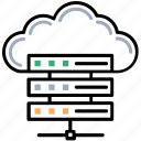 cloud dbms, cloud hosting, cloud server, cloud shared information, cloud storage icon