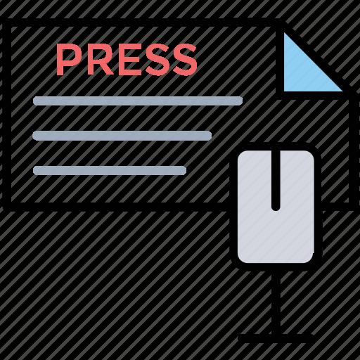 media release, news conference, news release, press release, press service icon