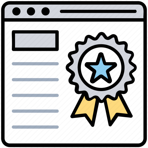 best website, page quality, page ranking, rating, website ranking icon