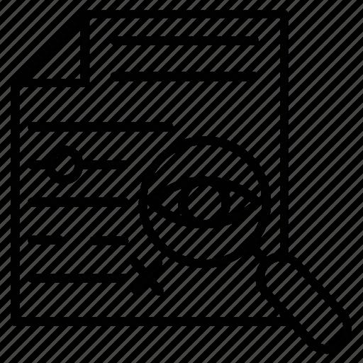 content correction, content editing, proofreading, text error correction, typographical error correction icon