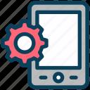 seo, mobile, setting, smartphone, gear