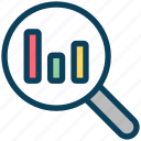 seo, search, graph, analytics, magnifier