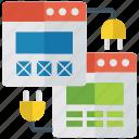 ui, web design, web development, web hosting, web infographics, web services icon