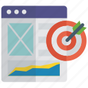 business target, deadline, objective, online goal, target, target website icon
