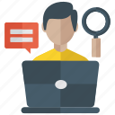 content search, document search, indexing, legwork, monitoring icon