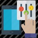 equalizer, mobile app, mobile equalizer, music equalizer, volume equalizer icon
