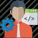 technological development, web developer, web page developer, web programming, website developer icon