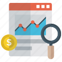 business growth analysis, financial chart, growth analysis, growth chart, infographic monitoring icon
