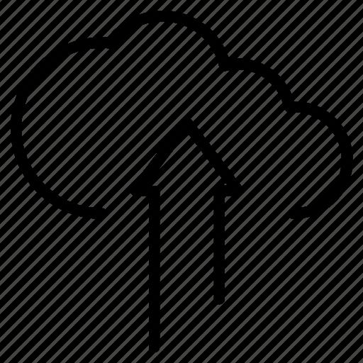 Cloud, cloud storage, data, database, server, upload icon - Download on Iconfinder