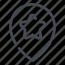 location, pin, pointer, star, best, favorite, marker