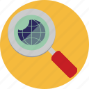 closeup, find, glass, magnifying, search, seo, zoom icon