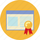 approval, certificate, certification, gurantee, seo icon
