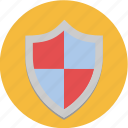 crest, defend, protect, seo, shield, virus icon