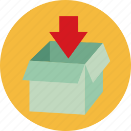 box, download, insert, seo icon