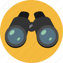 binoculars, look, search, seo, zoom icon
