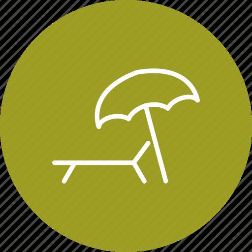 beach, beach ball, umbrella icon