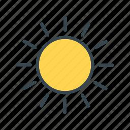 forecast, sunny, weather icon