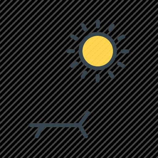 Spa, solarium, sunbath icon