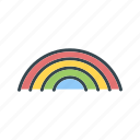 forecast, rain, rainbow icon