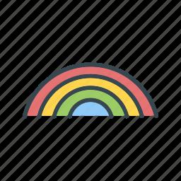 forecast, rain, rainbow icon