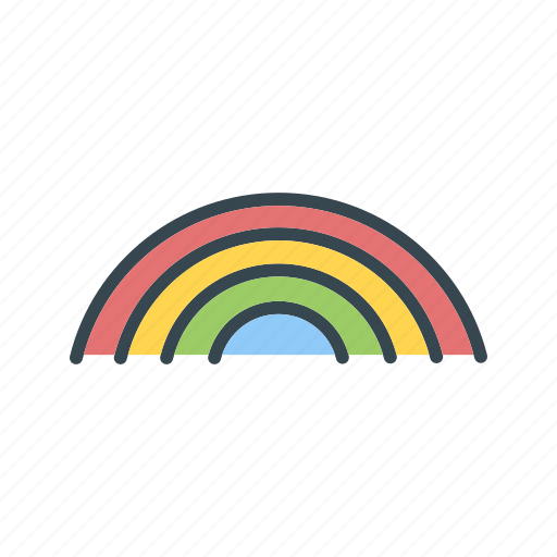 Rainbow, rain, forecast icon