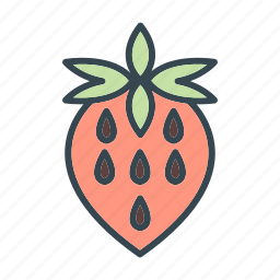 food, gastronomy, strawberry icon