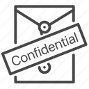 confidential, document, folder, secret icon