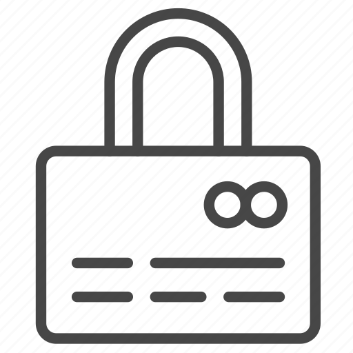 credit card, lock, payment, safe, secure, security icon