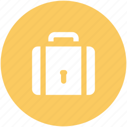 briefcase, business bag, keyhole, locked, packed, protected, security icon