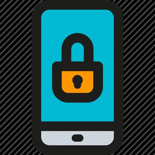 blocked, communication, device, locked, martphone, secure, telephone icon