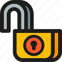 access, password, project, protect, safety, unlock, unlocked icon