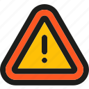warning, caution, danger, document, exclamation, extension, sign icon