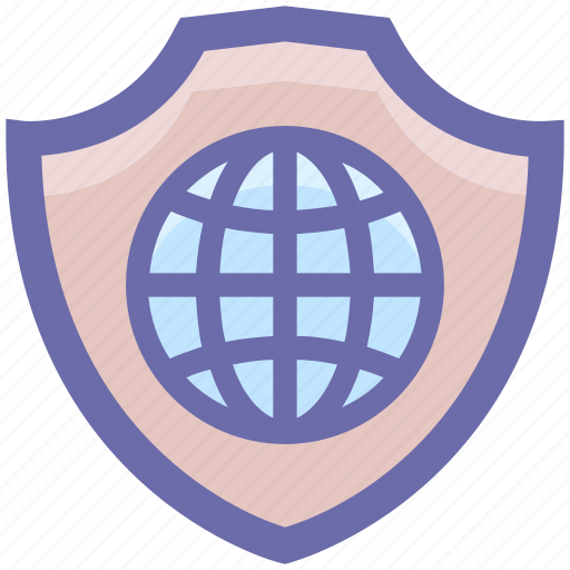 checkmark, cyber security, globe, internet, secure, tick icon