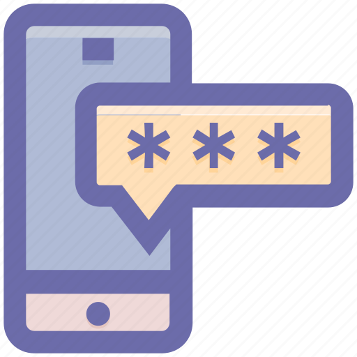 locked, mobile code, mobile password, secure, security code, smartphone icon