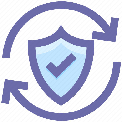 antivirus, firewall, loading, privacy, protection shield, secure, security, shield, sync icon