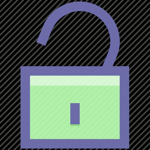 padlock, password, secure, security, unlock, unlocked icon