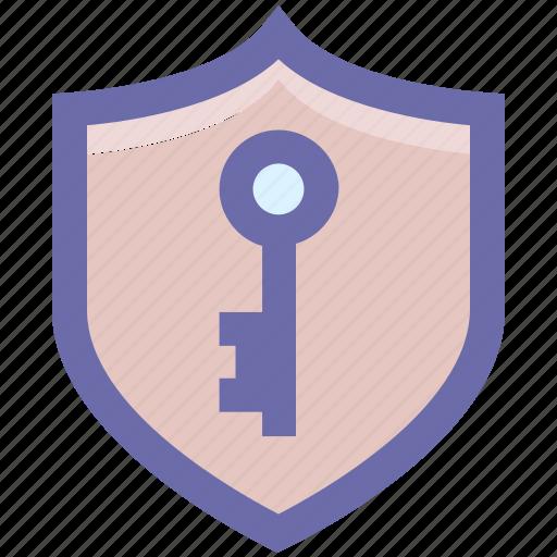 antivirus, firewall security, key, protection shield, shield icon