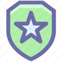 emblem, police badge, security badge, sheriff badge, star badge icon