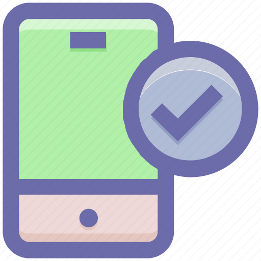 cell phone, check, mobile, mobile check, phone, secure, smartphone icon