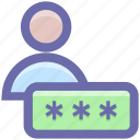 name, person, user, interface, security, password icon